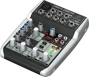 Mesa de Som 5 Canais Behringer Mixer Xenyx 110v Q502 USB