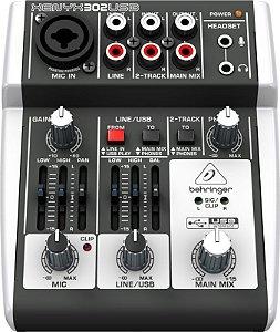 Mesa de Som Mixer Behringer 302USB Xenyx BiVolt