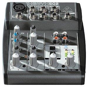 Mesa De Som Mixer 5 Canais Behringer Xenyx 502 110V