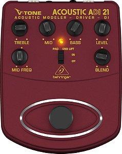 Pedal Direct Box Modelador Para Violão  Behringer ADI21
