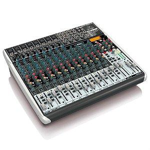 Mesa de Som Mixer Behringer Com 22 canais QX2222USB Bivolt