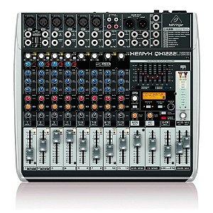 Mesa de Som Mixer Com 12 canais Behringer QX1222USB Bivolt