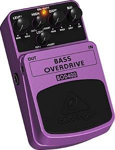 Pedal de Efeitos Behringer BOD400 Bass Overdrive