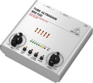 Pré Amplificador Para Microfones Behringer MIC100
