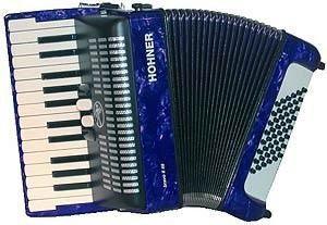 Acordeon Hohner Amica II 48 Azul com Case