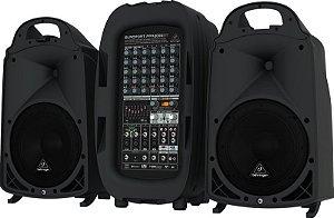 Caixa Acústica 110V Behringer PPA2000BT 2000W