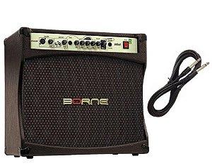 Amplificador Para Violão e Voz Borne Infinit CV12100 + Cabo