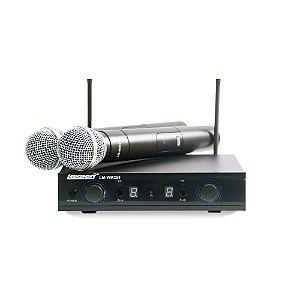 Microfone Sem Fio Duplo UHF Lexsen LM WM 258