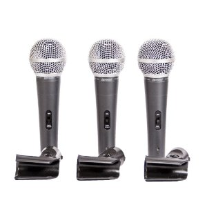 Kit de Microfone Com Fio Supercardioides Lexsen LCM1800