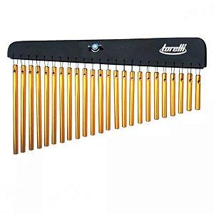 Carrilhão Percussão Com 24 Barras Dourado Torelli Ta301
