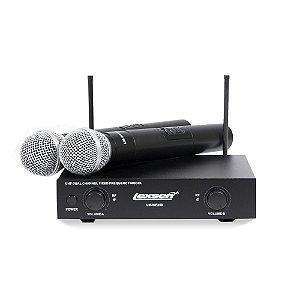 Microfone Sem Fio Lexsen Duplo LM-WF258 Bivolt
