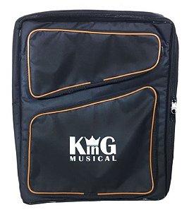 Mochila Bag Para Baqueta E Acessórios De Bateria Luxo Preto