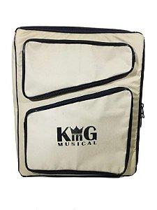 Mochila Bag Para Baqueta E Acessórios De Bateria Luxo Bege
