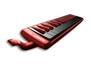Escaleta Melodica Hohner Fire Red-Black 9432 32 Teclas