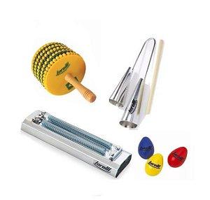 Kit Afuxe Torelli Brasil TX015 Agogo Reco TR500 3 Ovinhos