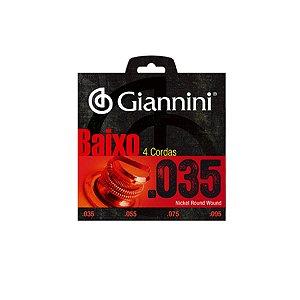 Encordoamento de Baixo Giannini 4 Cordas 035
