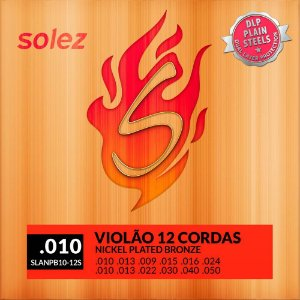 Encordoamento Violão 12 Cordas Solez 010 Nickel Bronze