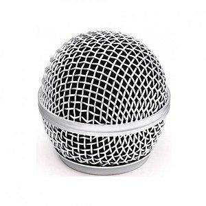 Globo Metalico Para Microfone MXT 31mm Rosca