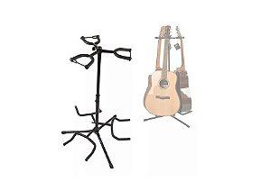 Estante de Chão Para 3 Violão Guitarra Baixo Suporte Tripe