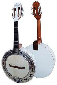 Banjo Rozini Branco Elétrico Cápsula Passíva Leson