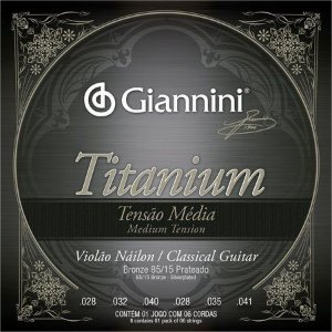 Encordoamento Violão Nylon Giannini Tensão Média Titanium