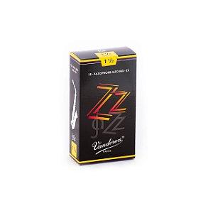Palheta Zzjazz 1,5 P/sax Alto Cx C/10 Sr4115 Vandoren