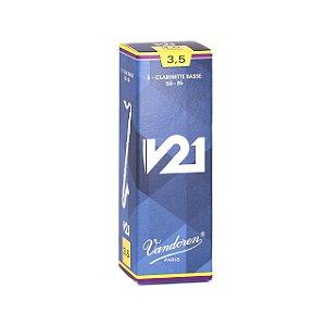 Palheta V21 3,5 P/clarinete Baixo Cx C/5 Cr8235 Vandoren