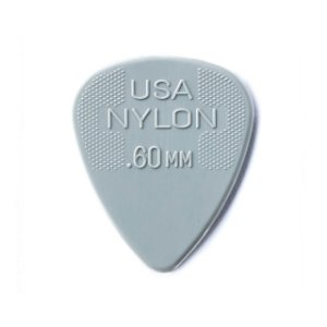 Palheta Nylon Standard 0,60mm Cinza Claro Pct C/72 44r.60 Dunlop