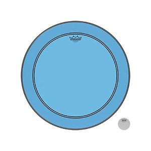 """Pele Bumbo 22"""" Powerstroke Transparente Azul P31322ctbu Remo"""