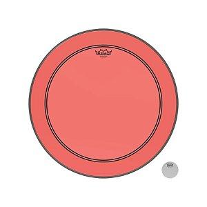 Pele P/ Bumbo 22 Pol Powerstroke 3 Colortone Transparente Vermelha P3-1322-ct-rd Remo