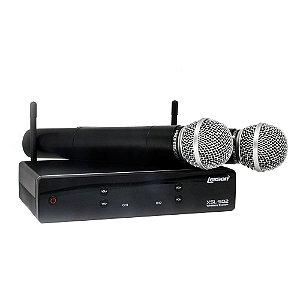 Microfone UHF 2 canais de frequencia fixa XSL 502 Lexsen