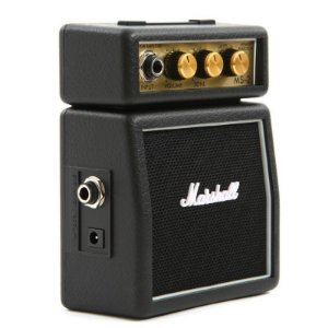 Mini Amplificador para Guitarra Marshall  MS-2-E Black 1W