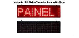 Painel de led Vermelho Letreiro Luminoso SL0721 70X20