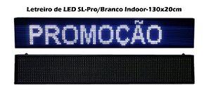 Painel de led Branco USB Letreiro Luminoso SL1321 130X20