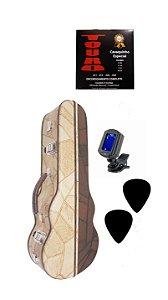 Estojo Case de Luxo P/ Cavaco Afinador Corda Touro Palhetas