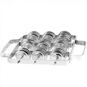 Rocar Torelli em Alumínio Platinelas de Aço 21Cm RR021