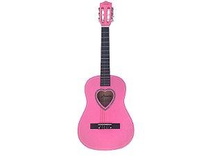 Violão Nylon Austin 941SPK Rosa Juvenil Pink Coração