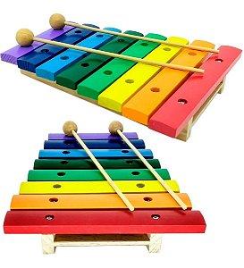 Xilofone de Madeira Musical Paganini PXL 802 de 8 Notas