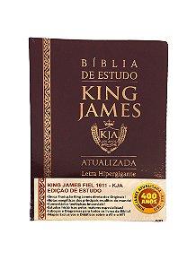Bíblia de Estudo King James Atualizada Hipergigante Bordô
