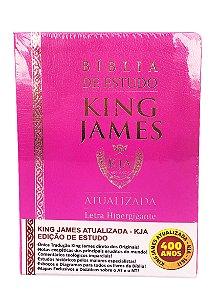 Bíblia de Estudo King James Atualizada Hipergigante Rosa