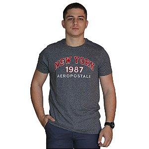 Camiseta AÉROPOSTALE Bordado Cinza