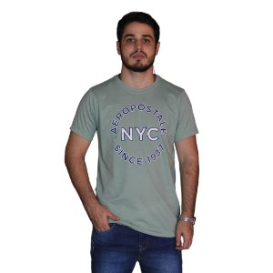 Camiseta AÉROPOSTALE NYC 1987 Verde