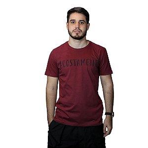 Camiseta Acostamento Frase Vermelho Barca