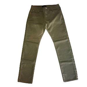 Calça Jeans ACOSTAMENTO Verde Militar