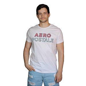 Camiseta AÉROPOSTALE Sílabas Branco