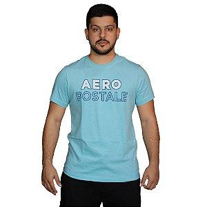Camiseta AÉROPOSTALE Sílabas Mar Azul
