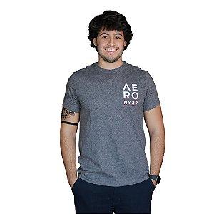 Camiseta AÉROPOSTALE NY87 Cinza