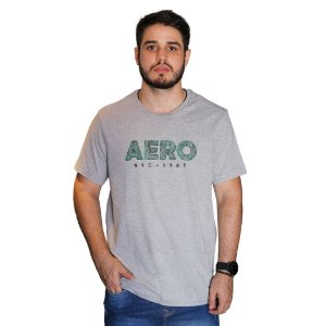 Camiseta AÉROPOSTALE Emborrachado Aero Cinza