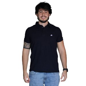 Camisa Polo AÉROPOSTALE Básica Azul Marinho