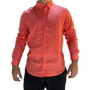 Camisa CATFISH Linho ML Rosa
